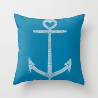Love is the anchor Throw Pillow by Budi Satria Kwan