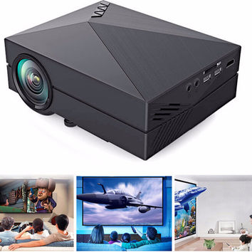 Mini Projector LCD 1000LM 1920 x 1080 Resolution AV USB 2.0 HDMI VGA SD Home and outdoor theater cinema projector proyector