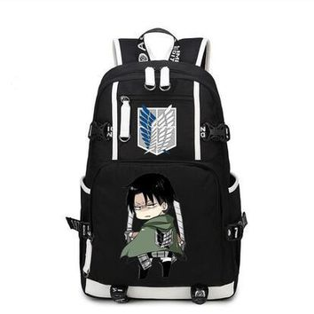 Cool Attack on Titan High Q Anime  Cosplay high school student  backpack CASUAL unisex laptop  backpack travel bags AT_90_11