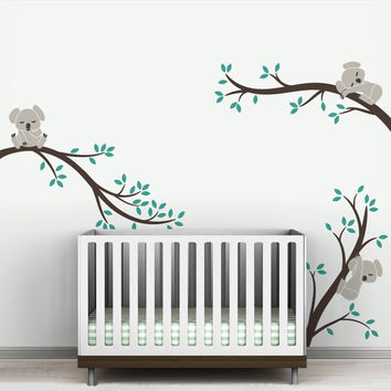 Oversize Removable Koala Tree Branches DIY Wall Decals Wall Sticker Nursery Vinyls Baby Wall Stickers Wall Art For Kids Room 504