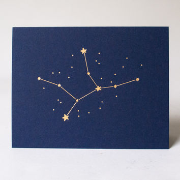 Zodiac Birthday Card Virgo