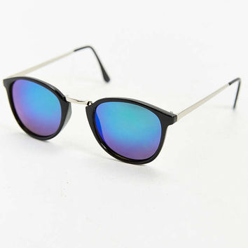 Green Revo Round Sunglasses - Urban Outfitters