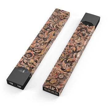 Skin Decal Kit for the Pax JUUL - Burning Damask Watercolor Pattern