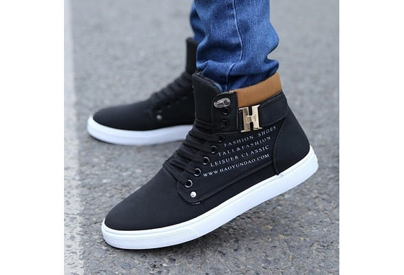 2c68956e57a Mr.Choc Mens Shoes New Arrival Retro Style Casual High Top Sneakers Canvas  Shoes  8822