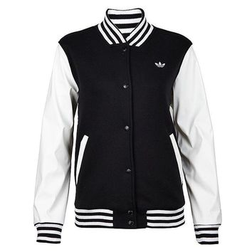 """Adidas""Woman Movement Leisure Baseball Jacket Sweatshirts Coat"
