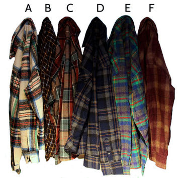 You Pick: Vintage Wool Flannels Size LARGE
