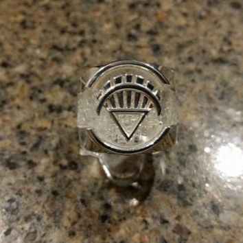 Custom Made to order White Lantern Ring from the Green Lantern Comic Books made from Silver and High Impact Resin.