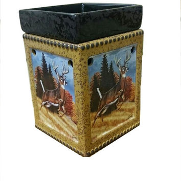 Ceramic Deer Tart Warmer Candle Warmer with Light