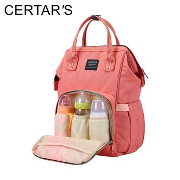 CERTAR'S Baby Diaper Bag Maternity Nappy Bags Travel Backpack Large Capacity Baby Changing Bag Mother Nursing Wet Bags Organizer
