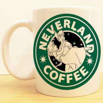 Neverland Coffee Mug |  Peter Pan Starbucks | Disney