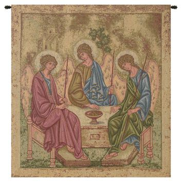 Holy Trinity Icon Tapestry Wall Art Hanging