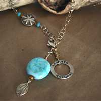 Sea Side Harmony Affirmation Necklace