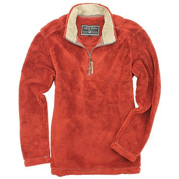 Pebble Pile Pullover 1/2 Zip in Spice by True Grit - FINAL SALE