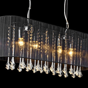 Shaded Long Pendant Chandelier