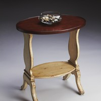 Briar Vanilla & Cherry Oval Accent Table by Butler Specialty Company 1336115