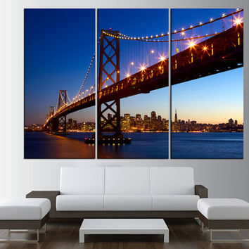 Golden Gate Bridge in San Francisco canvas print art, extra large wall art print canvas, San Francisco skyline wall art t469