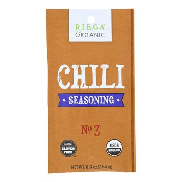 Riega Foods Organic Chili Seasoning  - Case Of 8 - 0.9 Oz.
