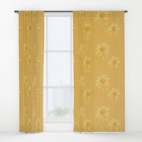 Yellow Orange Bows Window Curtains by deluxephotos