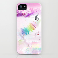 Snowboard & Mountain iPhone & iPod Case by Julien Kaltnecker
