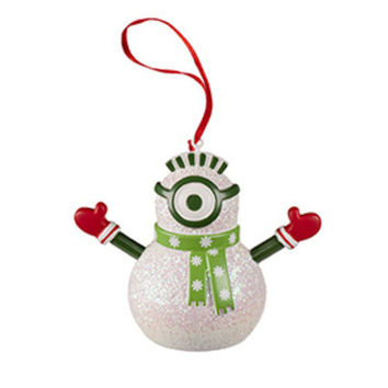 Universal Studios Despicable Me The Minion Snowman Ornament New with tag