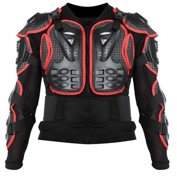New Black/Red Professional Motorcycle Racing Motocross Full Body Armor Spine Chest Protective Jacket Gear Protect Size S-XXXL