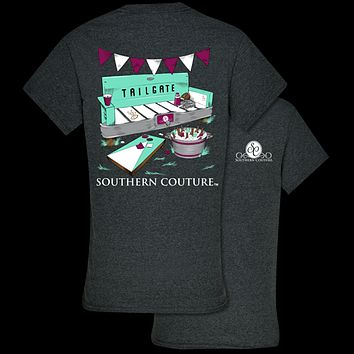 Southern Couture Preppy Tailgate Bench Fall T-Shirt