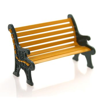 Department 56 Accessory WROUGHT IRON PARK BENCH General Village Christmas 52302