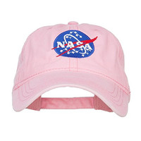 NASA Insignia Embroidered Pigment Dyed Cap - Pink OSFM