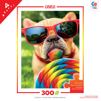 Ceaco Dog with Lollipop Avanti 300 Piece Jigsaw Puzzle