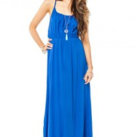 Ciel Maxi Dress in Royal - ShopSosie.com