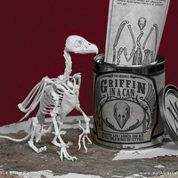 Griffin in a Can 3D Print Taxidermy Poseable Figure