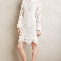 Maeve Adah Lace Shirtdress in White Size: