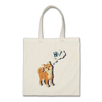 Thoughtful Shiba Inu Tote Bag