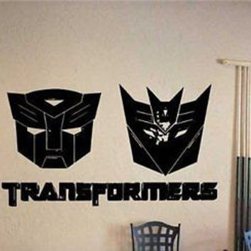 Autobots vs Decepticons Transformers Logo Emblem Wall art Sticker Decal V3