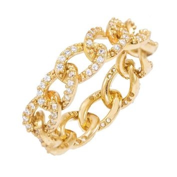 Pave Cuban Chain Ring