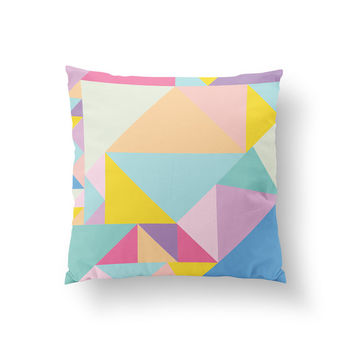 Colorful Pillow, Abstract Pillow, Home Decor, Cushion Cover, Throw Pillow, Bedroom Decor, Decorative Pillow, Fashion Decor, Geometric Art