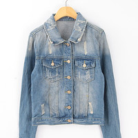 Vintage denim jacket demin coat from Sweetbox Store