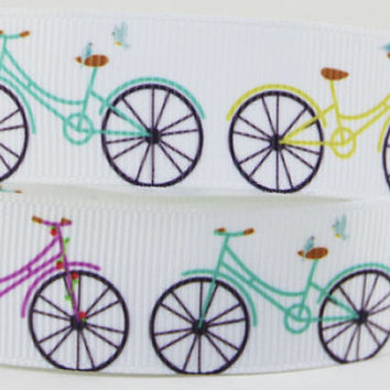 "Bicycle Grosgrain 7/8"" Printed Ribbon"