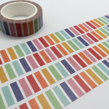 Rainbow washi tape 10M colorful stripe tape very colorful line deco tape rainbow decor sticker tape removable adhesive tape scrapbook gift