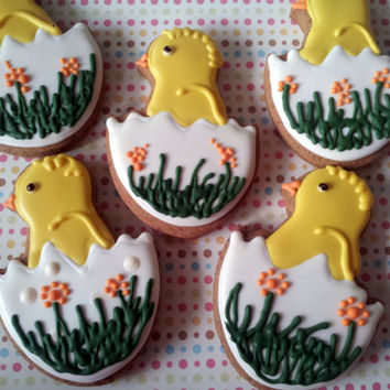 Easter Egg  and Easter Chicks, Gingerbread Easter Cookies