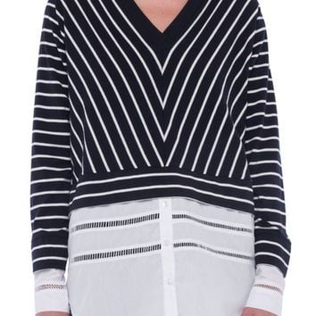 French Connection Tim Tim Stripe Layer Sweater | Nordstrom