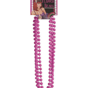 Roaring 20's Flapper Beads - Pink