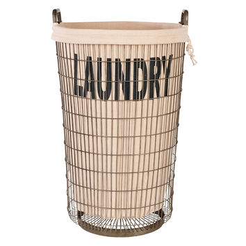 Aidan Gray Laundry Basket