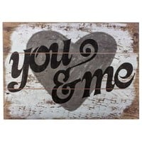 You & Me Wood Wall Sign | Hobby Lobby | 958322