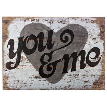 You Me Wood Wall Sign Hobby Lobby 958322