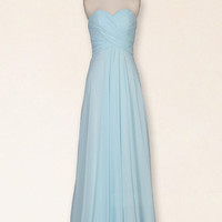 Light blue bridesmaid dresses, cheap bridesmaid dresses, long prom dresses, chiffon prom dress, bridesmaid dresses, prom dress 2014, RE293