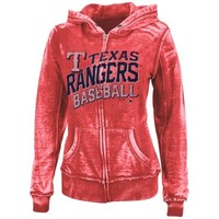 Majestic Texas Rangers Ladies Home Run Honey Full-Zip Hoodie - Red