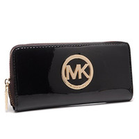 Perfect Michael Kors Jet Set Continental Smooth Large Black Wallets, Perfect You