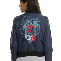 Disney Big Hero 6 Baymax Girls Nylon Bomber Jacket