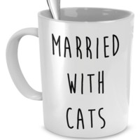 Married with Cats Coffee Mug
